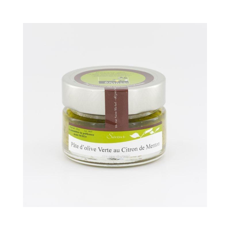 Pate d'olive verte au citron de Menton