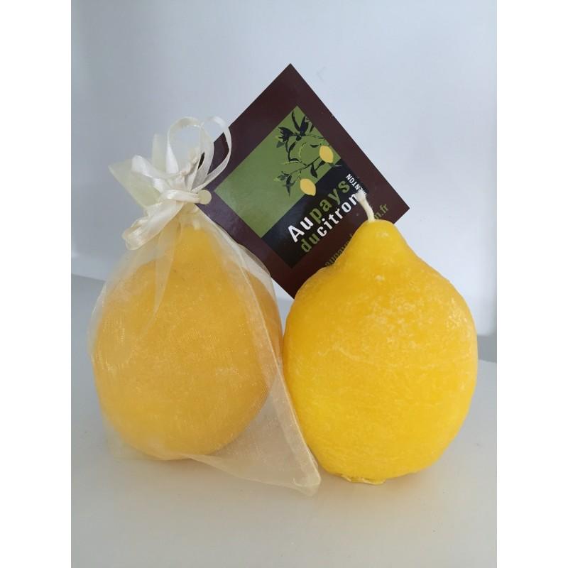 Bougie d'ambiance citron de Menton