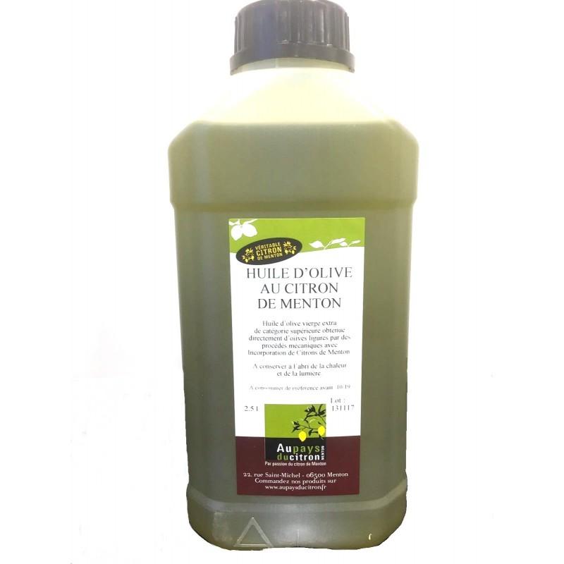 Huile d'olives au citron de Menton 2.5L