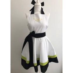 "Tablier-robe ""un zeste de bonheur"" jaune Miss Zabaldu"