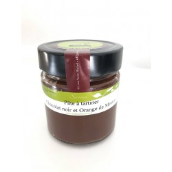pâte à tartiner chocolat noir et orange de Menton 250g